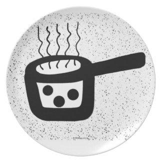 Placa decorativa del cazo plato para fiesta