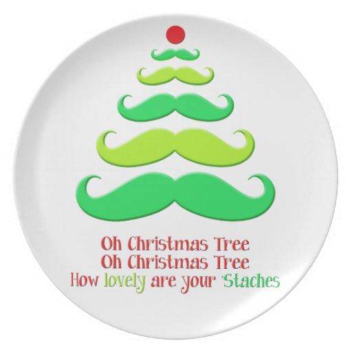 Placa decorativa del día de fiesta del árbol de na platos para fiestas