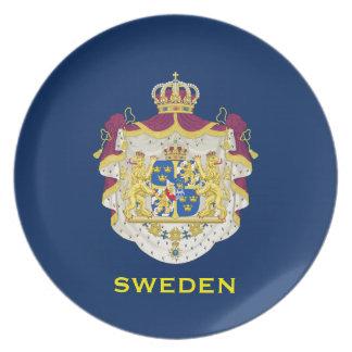Placa decorativa del escudo de armas de Sweden* Platos