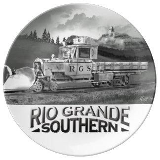 Placa decorativa del ganso meridional del trabajo  platos de cerámica