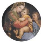 Placa decorativa del sedia del della de Madonna de Platos