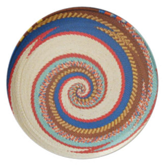 Placa decorativa del Zulú Platos De Comidas