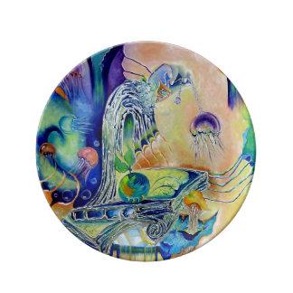 Placa decorativa - fantasía platos de cerámica