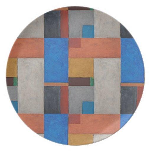 Placa decorativa (medieval) abstracta del arte platos para fiestas
