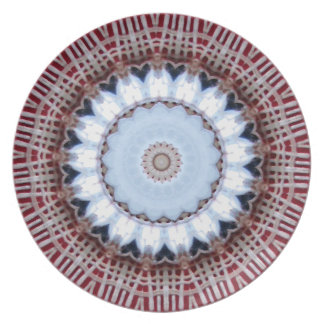 Placa decorativa modelada artsy de la melamina del platos de comidas