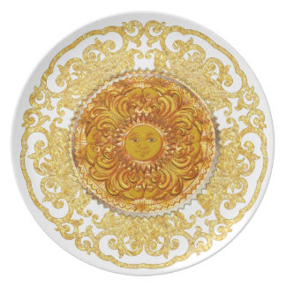 Placa decorativa - reino de Sun Platos Para Fiestas