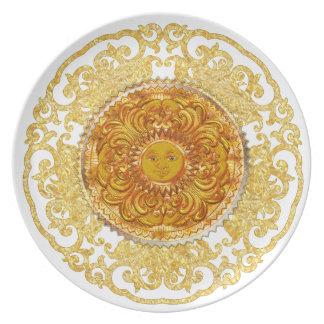 Placa decorativa - reino de Sun Plato De Comida