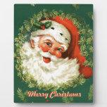 Placa decorativa retra de Santa