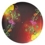 Placa decorativa única, elegante, inusual, moda plato para fiesta