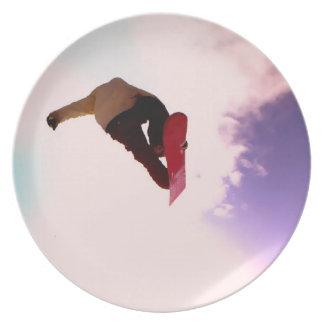 Placa del aire de la snowboard plato de comida