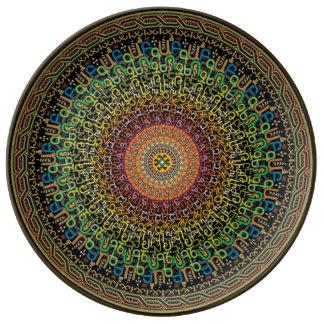 Placa del alfabeto armenio plato de cerámica