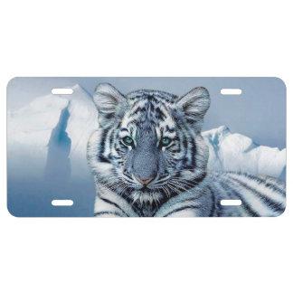 Placa del aluminio del tigre placa de matrícula