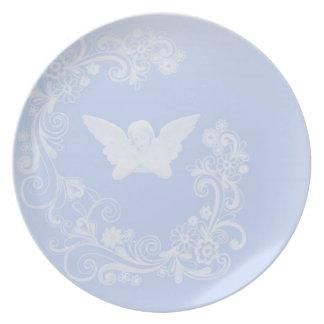 Placa del ángel plato de comida