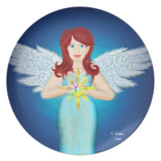 Placa del ángel platos