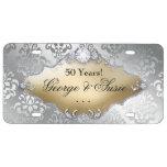 Placa del aniversario de bodas de plata 25ta placa de matrícula