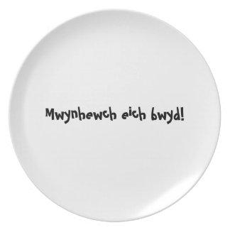 Placa del appetit del Bon - bwyd del eich Galés - Platos