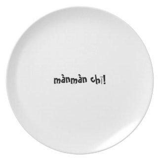 Placa del appetit del Bon - ji del manman del mand Platos