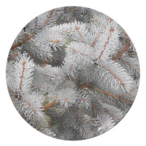 Placa del árbol del Pino-Navidad Plato De Cena