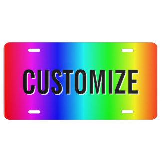 Placa del arco iris placa de matrícula