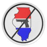 Placa del arma de Anti-Illinois Platos Para Fiestas