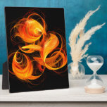 Placa del arte abstracto de la bola de fuego