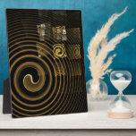 Placa del arte abstracto de la hipnosis