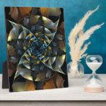 Placa del arte abstracto del molinillo de viento