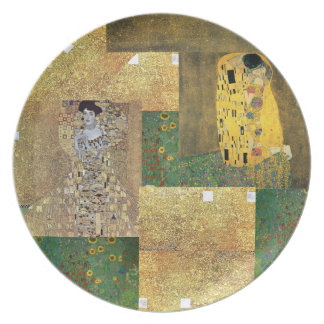 Placa del arte de Klimt Platos De Comidas