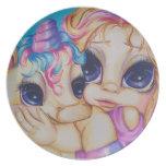 Placa del arte de la fantasía de los bebés de la m plato para fiesta