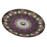 Placa del arte de la geometría del fractal de la p platos