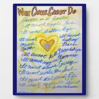 Placa del arte de la pintura del poema del cáncer