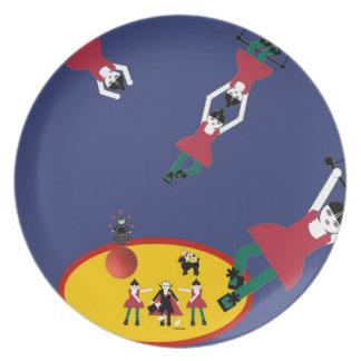 Placa del artista de trapecio de Cirque de Martzki Platos