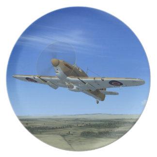 Placa del avión de combate del huracán del vendedo platos para fiestas