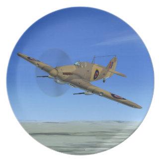 Placa del avión de combate del huracán del vendedo plato para fiesta
