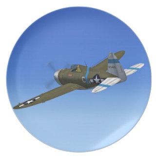 Placa del avión de combate del rayo P47 Plato Para Fiesta