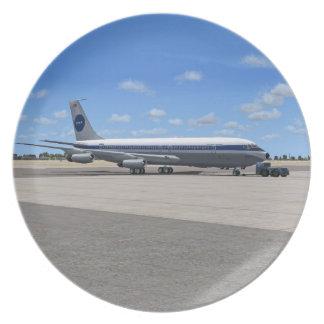 Placa del avión de las podadoras de PAA B707 Plato