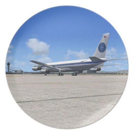 Placa del avión de las podadoras de PAA B707 Platos Para Fiestas