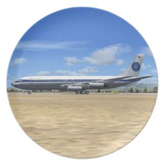 Placa del avión de las podadoras de PAA B707 Plato De Cena