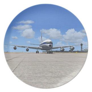 Placa del avión de las podadoras de PAA B707 Plato De Comida