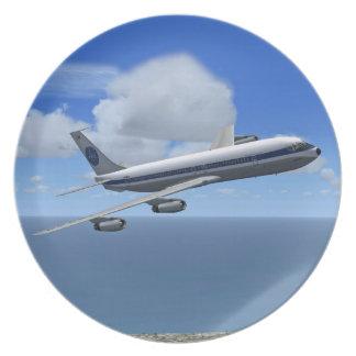 Placa del avión de las podadoras de PAA B707 Platos