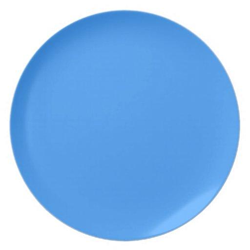 Placa del azul de Dodger Platos