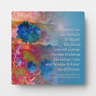 Placa del azul del rezo de la serenidad