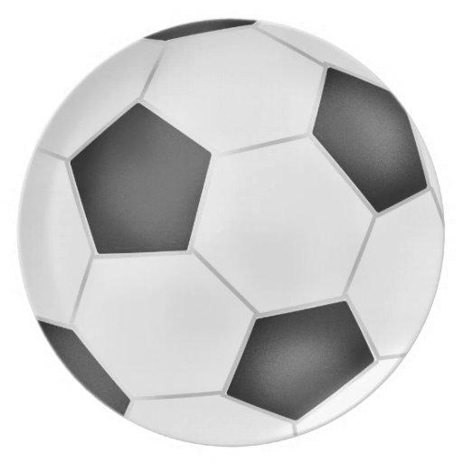 Placa del balón de fútbol plato