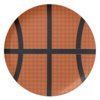 Placa del baloncesto plato de cena
