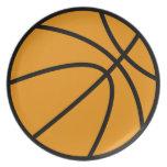 Placa del baloncesto plato