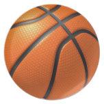 Placa del baloncesto plato para fiesta