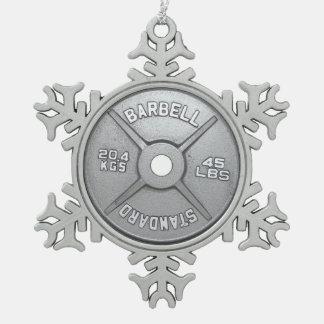 Placa del Barbell Adornos