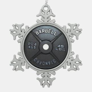 Placa del Barbell Adorno De Peltre En Forma De Copo De Nieve