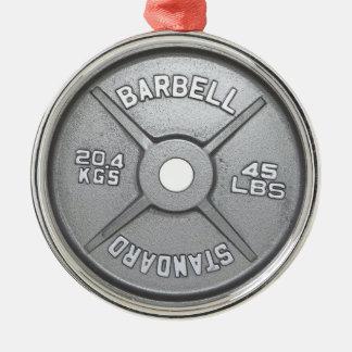 Placa del Barbell Adorno Navideño Redondo De Metal