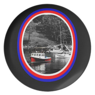 Placa del barco de Maine Plato De Cena